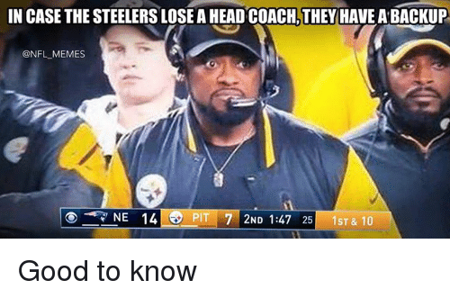 in case the steelers lose a head coach they have 5323906 ✅ 25 best memes about steelers lose steelers lose memes,Steelers Lose Meme