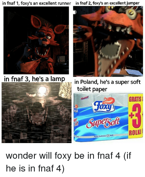 In Fnaf 1 Foxys An Excellent Runner In Fnaf 2 Foxy S An Excellent