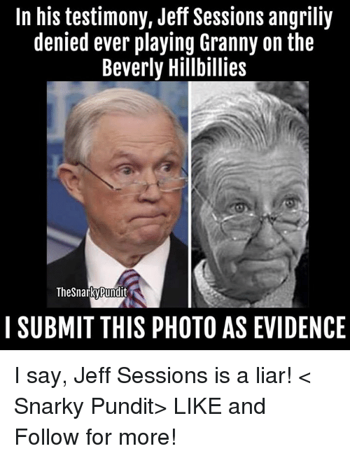 in his testimony jeff sessions angriliy denied ever playing granny 23103046 ✅ 25 best memes about the beverly hillbillies the beverly