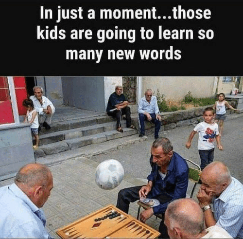 Dank, Kids, and 🤖: In just a moment...those  kids are going to learn so  many new words
