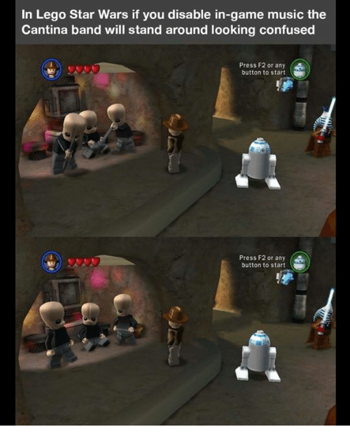 In Lego Star Wars If You Disable In Game Music The Cantina Band Will