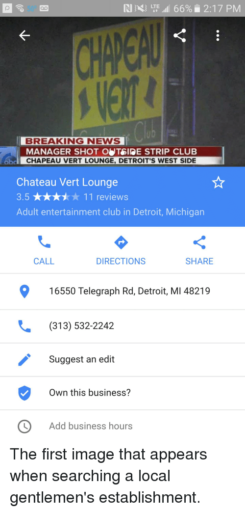 Club, Detroit, and News: IN LTE 66% 2:17 PM QO