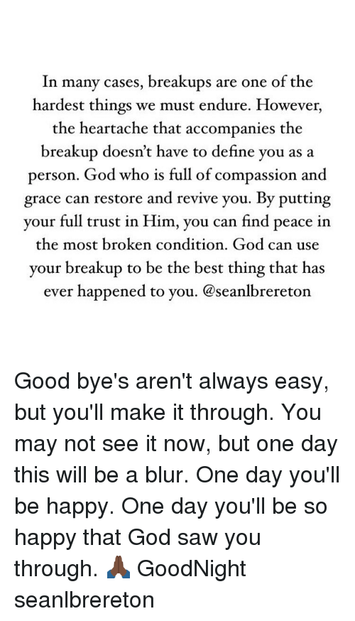 Trusting god after a breakup