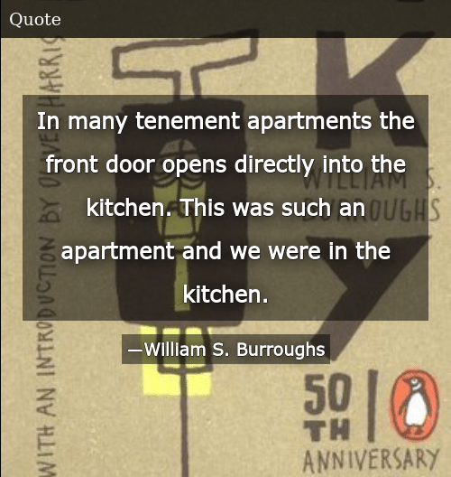 In Many Tenement Apartments the Front Door Opens Directly