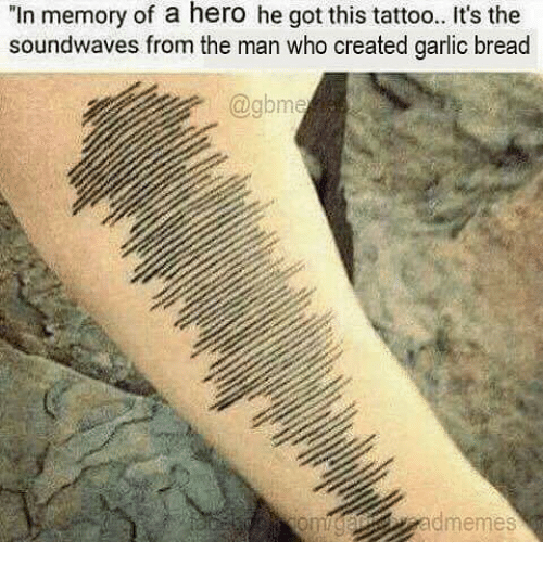 In Memory Of A Hero He Got This Tattoo Its The Soundwaves From The