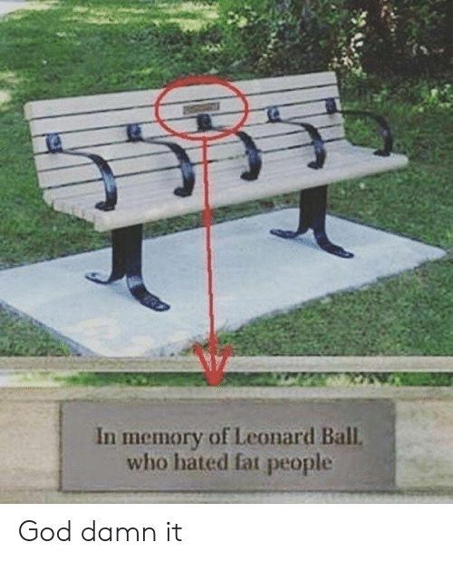 God, Fat, and Who: In memory of Leonard Ball  who hated fat people God damn it