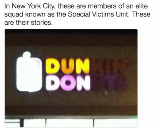 New York, Squad, and These Are Their Stories: In New York City, these are members of an elite  squad known as the Special Victims Unit. These  are their stories.  DUN  DON