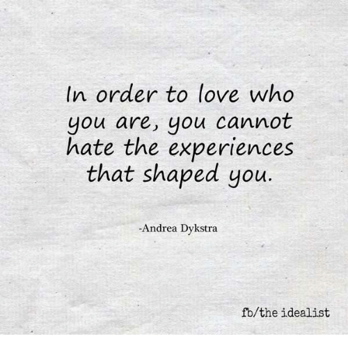 how to love who you are