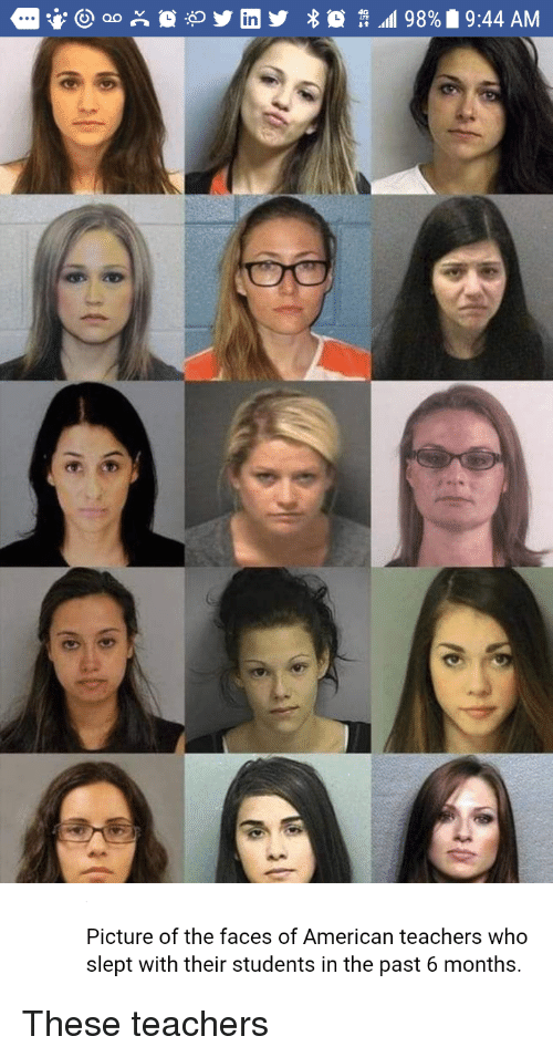 In Picture of the Faces of American Teachers Who Slept With