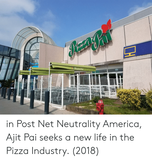 America, Life, and Pizza: in Post Net Neutrality America, Ajit Pai seeks a new life in the Pizza Industry. (2018)
