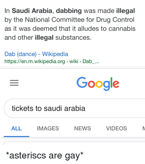 In Saudi Arabia Dabbing Was Made Illegal by the National Committee