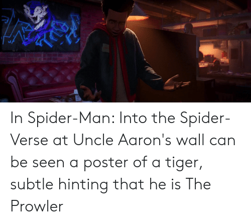 In Spider-Man Into the Spider-Verse at Uncle Aaron's Wall Can Be