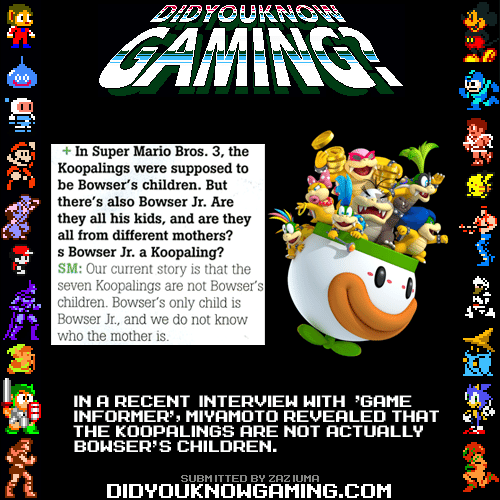 In Super Mario Bros 3 The Koopalings Were Supposed To Be Bowser S