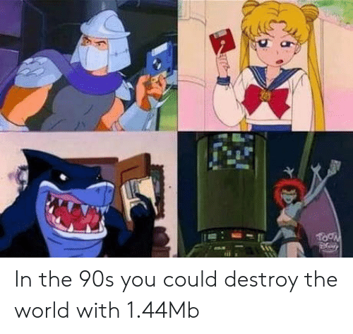 World, 90's, and The World: In the 90s you could destroy the world with 1.44Mb