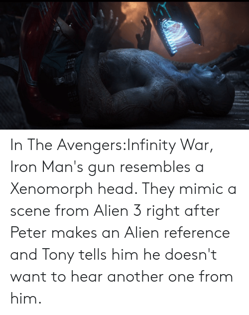 In the AvengersInfinity War Iron Man's Gun Resembles a