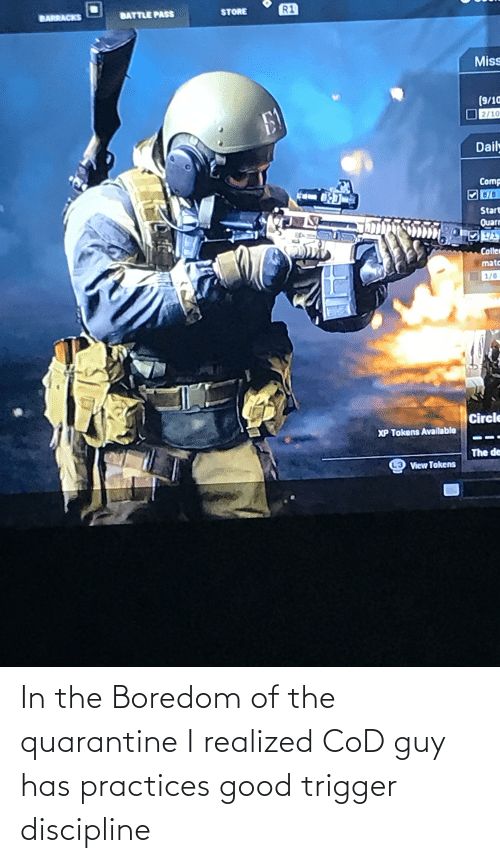 Good, Boredom, and Cod: In the Boredom of the quarantine I realized CoD guy has practices good trigger discipline