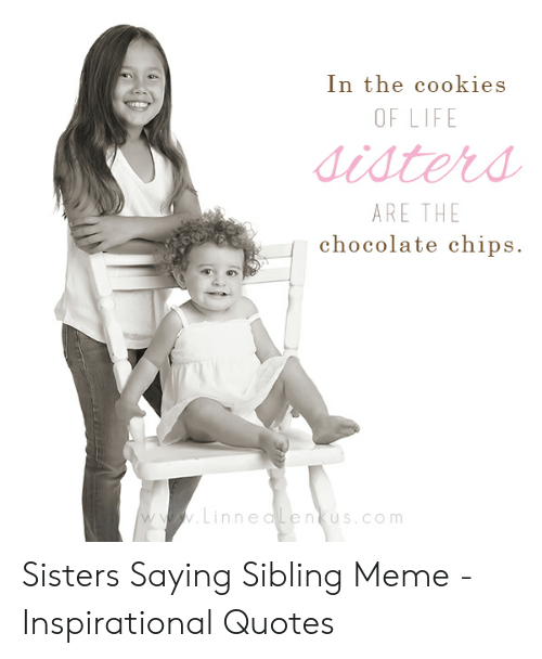 In the Cookies OF LIFE Sisters ARE THE Chocolate Chips ...