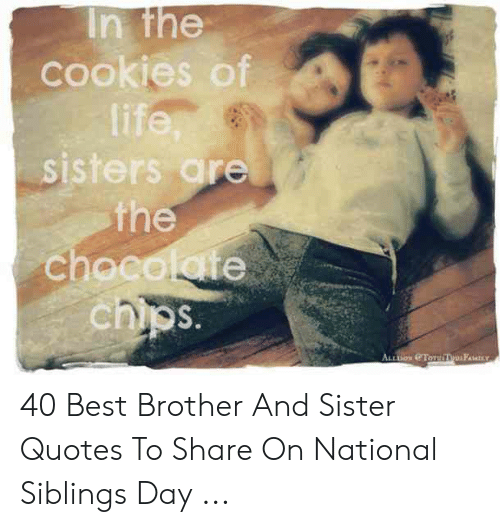 In the Cookies of Life Sisters Are the Chocolate Chips ALL ...