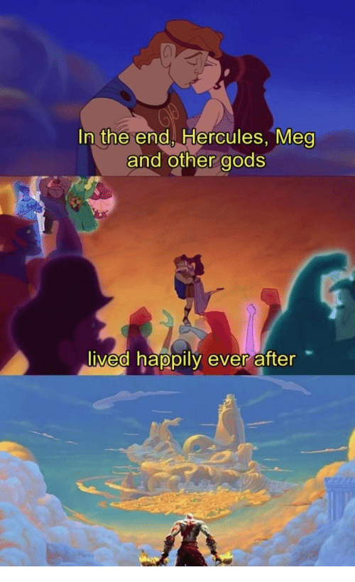 Ever After, Hercules, and Meg: In the end, Hercules, Meg  and other gods  vea nappily ever after  0