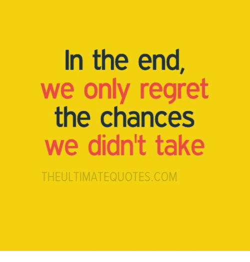 Memes, 🤖, and In the End: In the end  we only regret  the chances  we didn't take  THEULTIMATEQUOTES COM