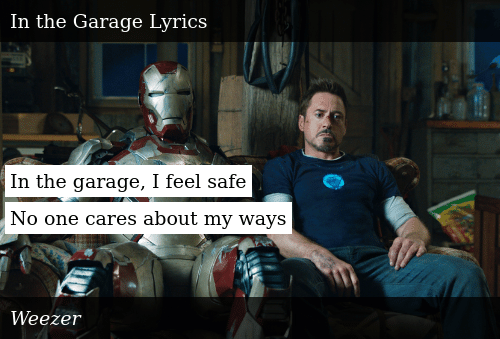 In The Garage I Feel Safe No One Cares About My Ways Meme On Me Me