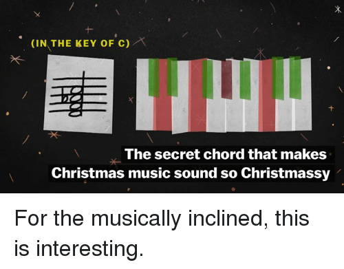 In THE KEY OF C the Secret Chord That Makes Christmas Music Sound So ...