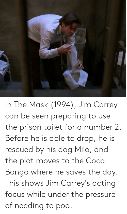 In the Mask 1994 Jim Carrey Can Be Seen Preparing to Use the