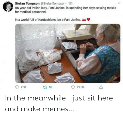 Memes, Make, and Just: In the meanwhile I just sit here and make memes…