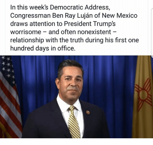 The Worrisome Relationship Between >> In This Week S Democratic Address Congressman Ben Ray Lujan Of New