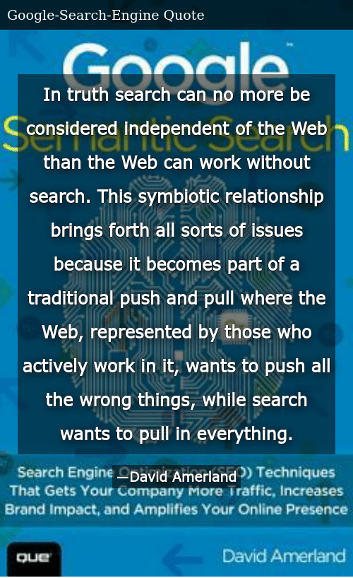 In Truth Search Can No More Be Considered Independent of the