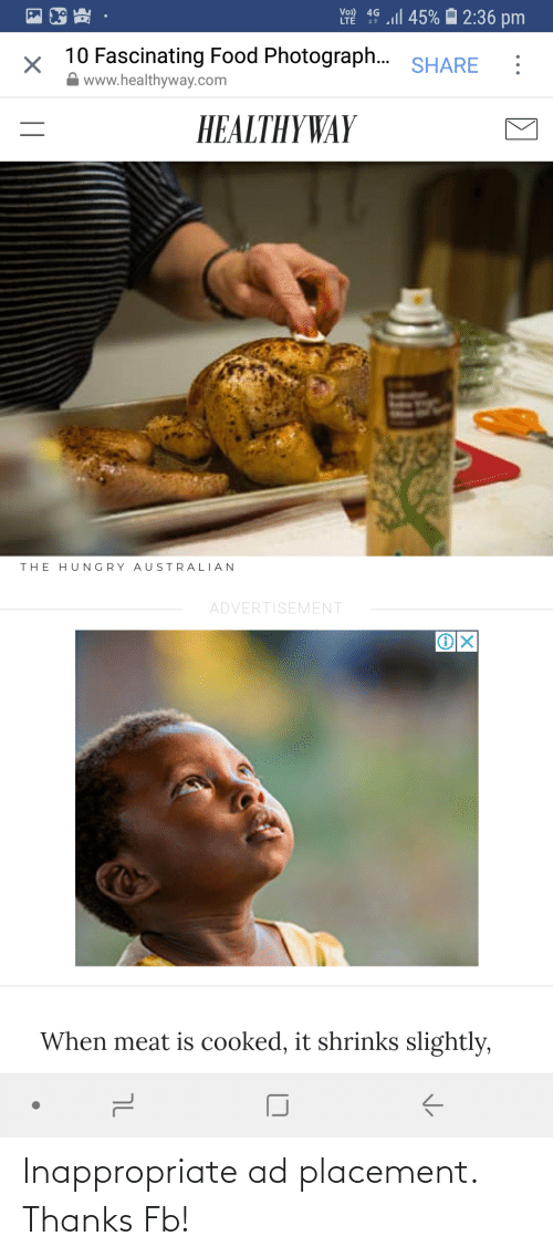 Accidental Racism, Thanks, and  Placement: Inappropriate ad placement. Thanks Fb!
