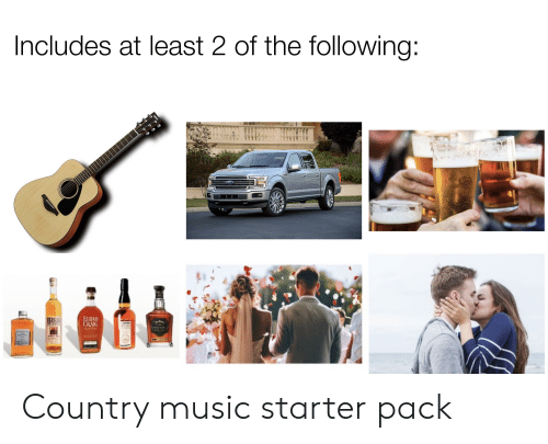 Music, Starter Packs, and Country Music: Includes at least 2 of the following:  AMAHA  Ford  EuTAH  CRAIG  HIGH Country music starter pack