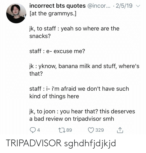 Incorrect Bts Quotes 2519 at the Grammys Jk to Staff Yeah So Where