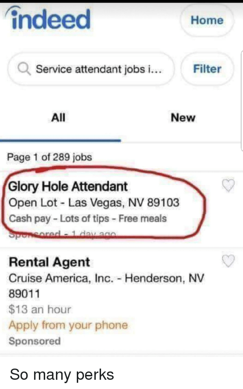 Speaking, would glory hole service you