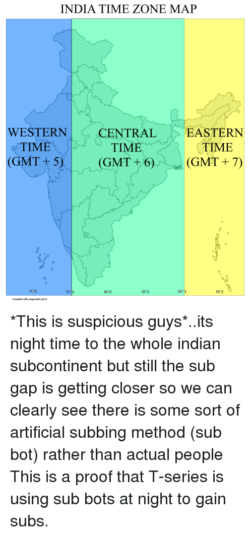India Time Zone Map Western Centraleastern Tim Time Gmt 5 Time Gmt