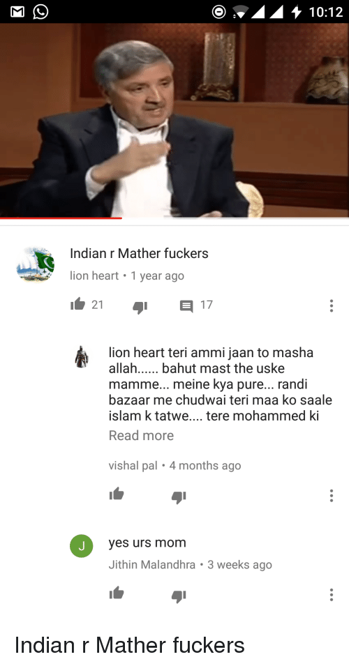 Indian R Mather Fuckers Lion Heart 1 Year Ago 1 21 1 17 Lion