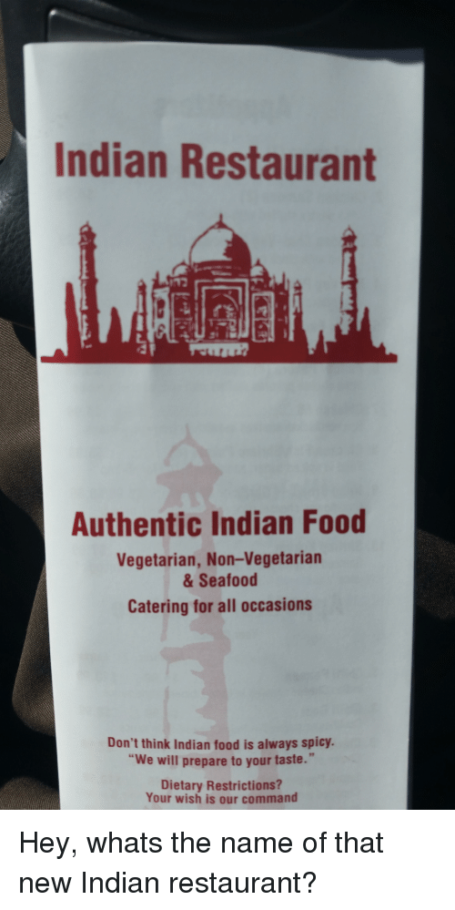 Indian Restaurant Authentic Indian Food Vegetarian Non