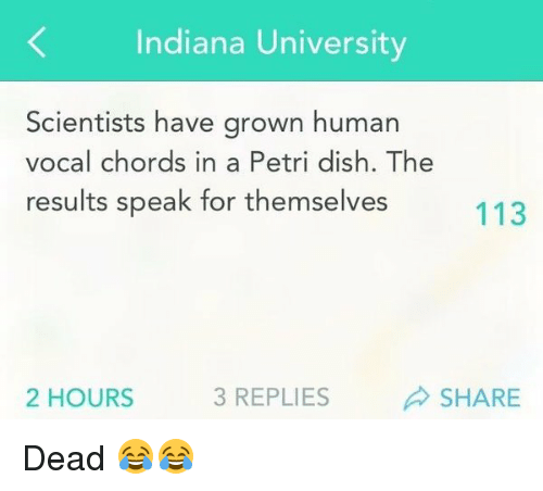 Indiana University Scientists Have Grown Human Vocal Chords in a ...