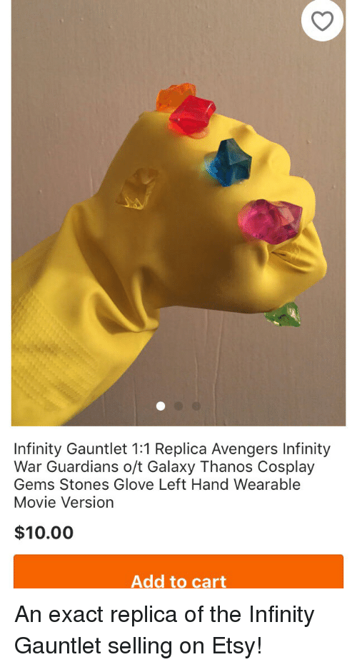 08dbedd1a Funny, Avengers, and Cosplay: Infinity Gauntlet 1:1 Replica Avengers Infinity  War