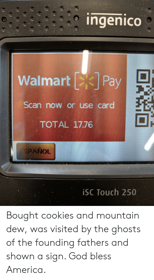 Ingenico Walmart Pay D- Scan Now or Use Card TOTAL 1776 SPANOL iSC