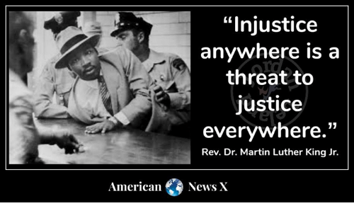 """Martin, Martin Luther King Jr., and Memes: """"Injustice  anywhere is a  threat to  justice  everywhere.""""  Rev. Dr. Martin Luther King Jr.  American News X"""
