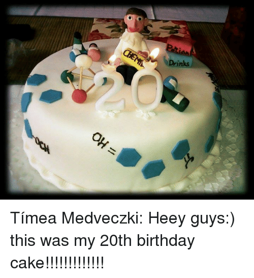 Birthday Cake And Chemist Inks Timea Medveczki Heey Guys This