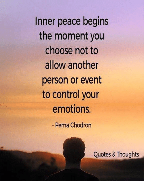 Pema Chodron Quotes Unique Inner Peace Begins The Moment You Choose Not To Allow Another