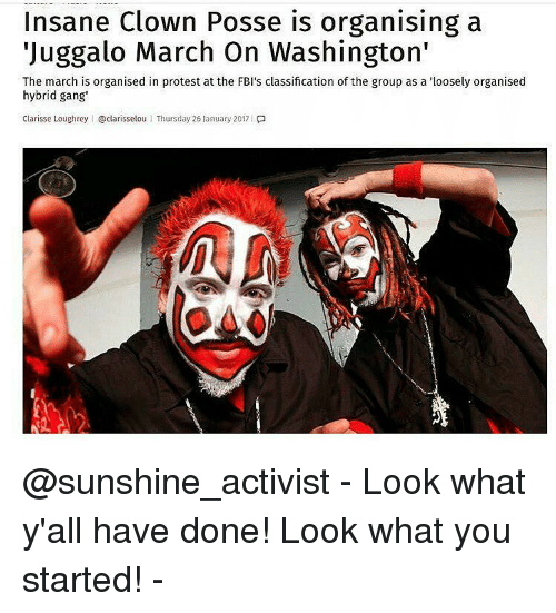 Insane Clown Posse Is Organising A Juggalo March On Washington The