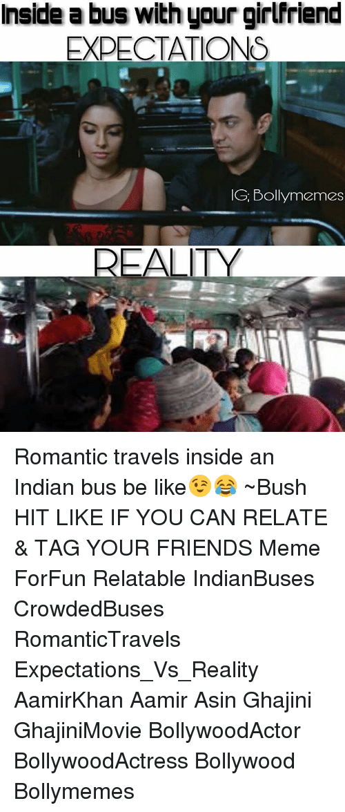 Inside A Bus With Your Girlfriend Expectations Gi Boll Reality