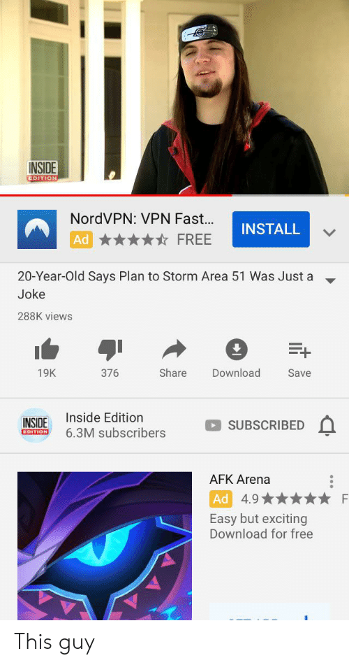 INSIDE EDITION NordVPN VPN Fast INSTALL FREE Ad 20-Year-Old Says
