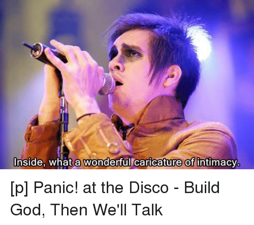 God Lyrics And Panic At The Disco Inside What A Wonderful Caricature