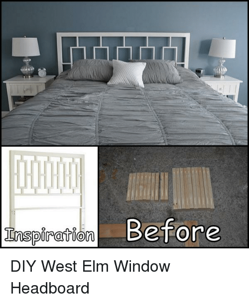 Memes, 🤖, And West Elm: Inspiration Before DIY West Elm Window Headboard