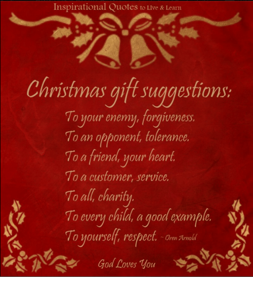 Inspirational Quotes To Live Learn Christmas Gift Suggestions To