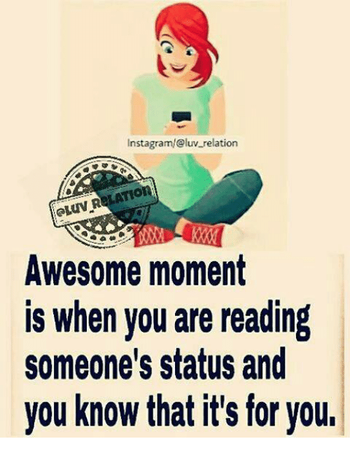 Instagram@luv Relation Awesome Moment Is When You Are